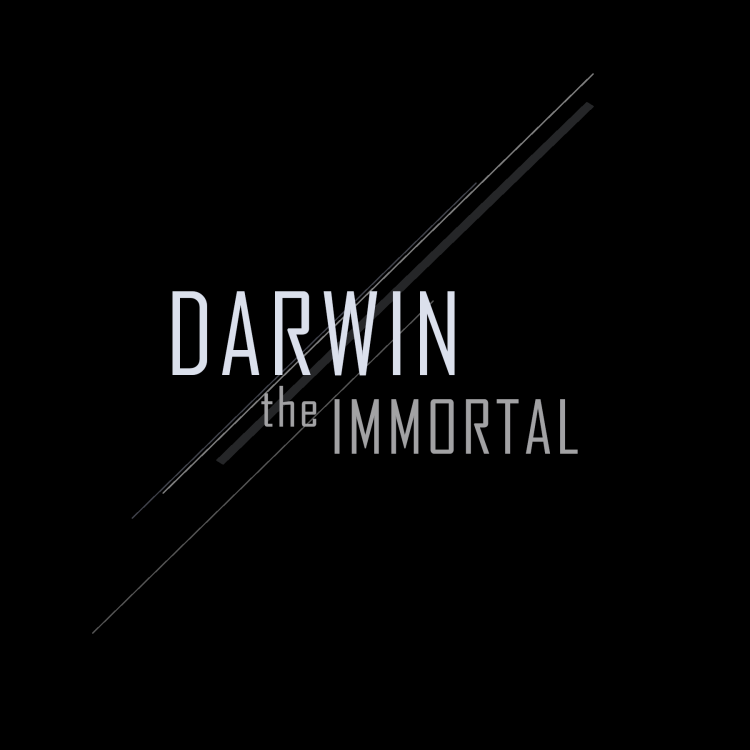Logo concept for Darwin The Immortal, a performing musician, actor, and poet.