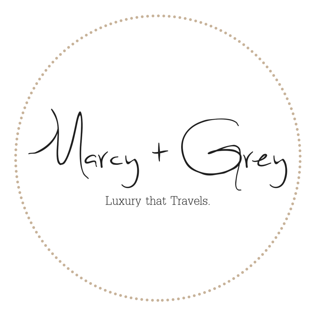 Logo for Marcy + Grey, a sleek, travel-friendly candle brand by January Remingtonn